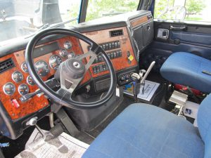 inside cab of 2006 western star used fuel truck