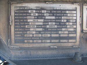 pup trailer tank spec plate