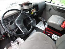 inside the cab of international fuel truck for sale